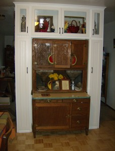 Cabinet around hutch